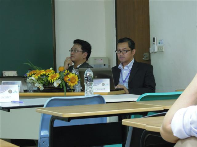 As Discussant with Prof Tai